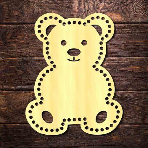 """Донышко для вязания """"Медведь"""""""